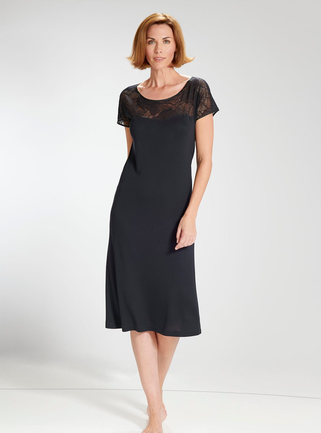 Elegant Lace-trimmed Nightie