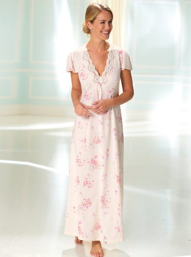 0132 - Pink Fleur - Soft Luxury Nightie