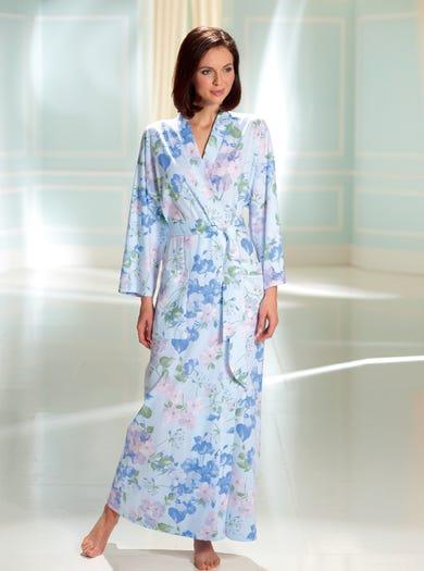 0158 - Hemelsblauw - Zachte jersey kimono
