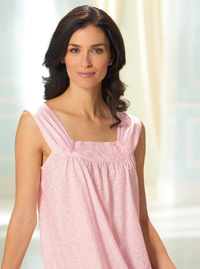 0191 - Pink Daisy - Featherlight Cotton Nightie