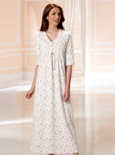 0223 - Floral - Brushed Cotton Nightie