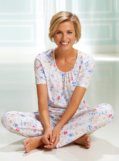 0296 - Fleurs Des Champs - Pyjama en doux jersey de coton stretch