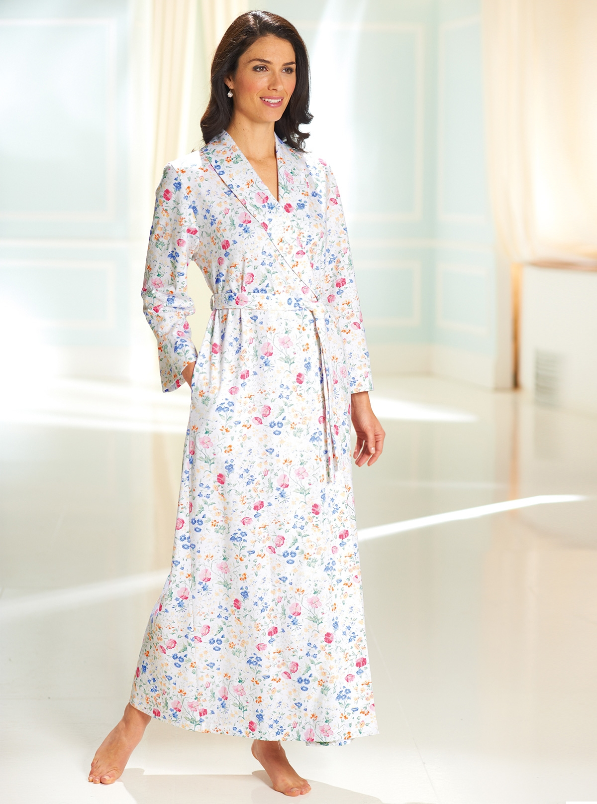 Summer Cotton Floral Dressing Gown Size S And To Have A Long Life. Sleepwear & Robes Women's Clothing