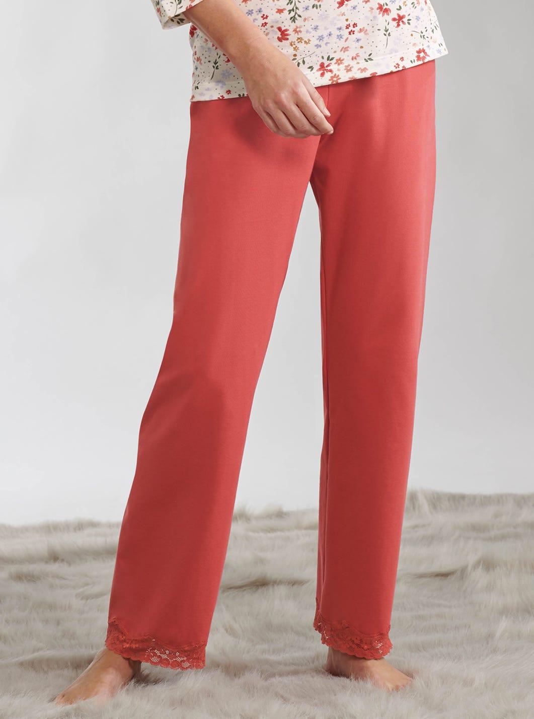 Lace Trim Pyjama Trousers