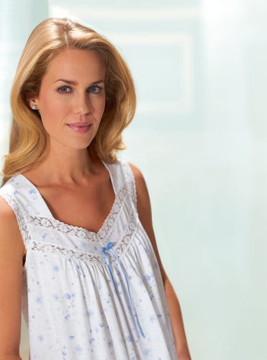 Cool Lace-Trimmed Nightdress