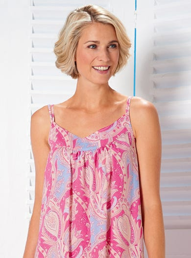 0391 - Paisley - Cool Cotton Nightie
