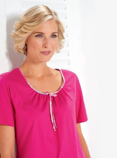0395 - Imprimé cachemire - Pyjama-tunique léger en pur coton
