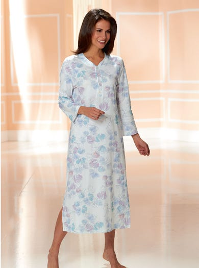 0466 - Pastel - Pure Cotton Jersey Nightdress