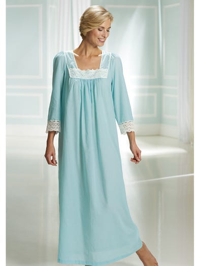 0503 - Green - Cool Cotton Voile Nightdress