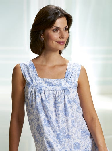 0520 - Blue - Soft Cotton Nightie
