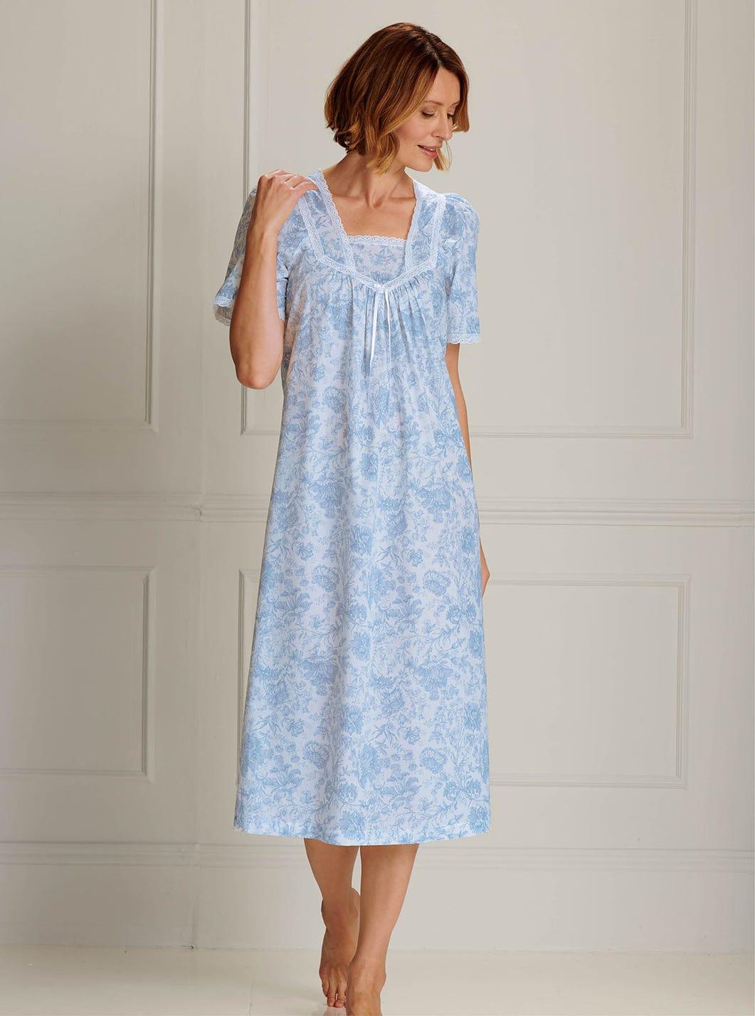 Nachtkleid aus reiner gewebter Baumwolle