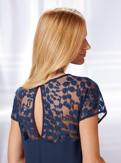 0576 - Navy/Donkerblauw - Extrazacht luxe nachthemd