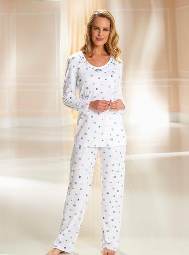 0738 - Gebloemd - Zacht katoenen pyjama