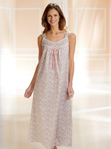 0751 - Botanischer Garten - Nachtkleid aus kühler Baumwolle