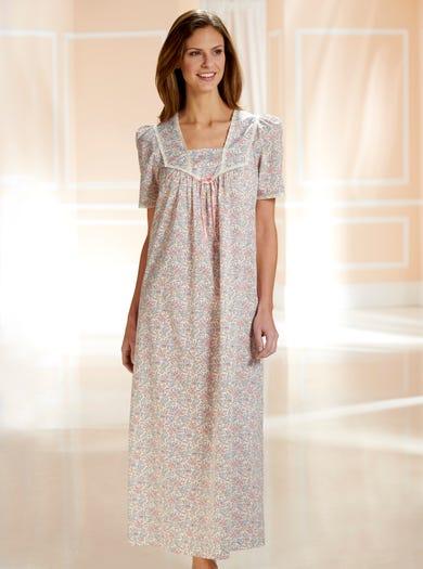 0752 - Botanischer Garten - Nachtkleid aus weicher Baumwolle