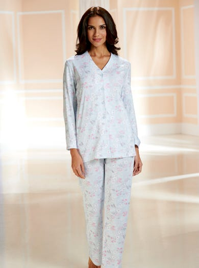 0785 - Blue Posy - Easy Jersey PJs