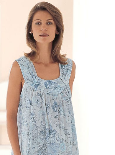 0790 - Blue - Cool Cotton Nightdress