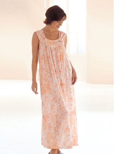 0790 - Peach - Cool Cotton Nightdress