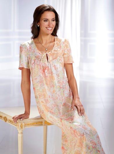 0794 - Pfirsich - Luxuriöses Nachtkleid