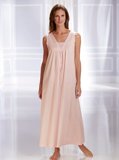 0810 - Pink - Cool Woven Cotton Nightie