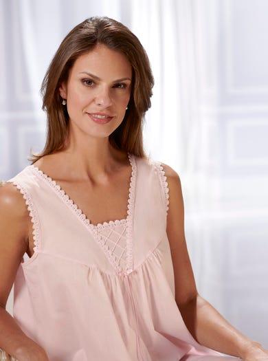 0810 - Rosa - Nachtkleid aus reiner Baumwolle
