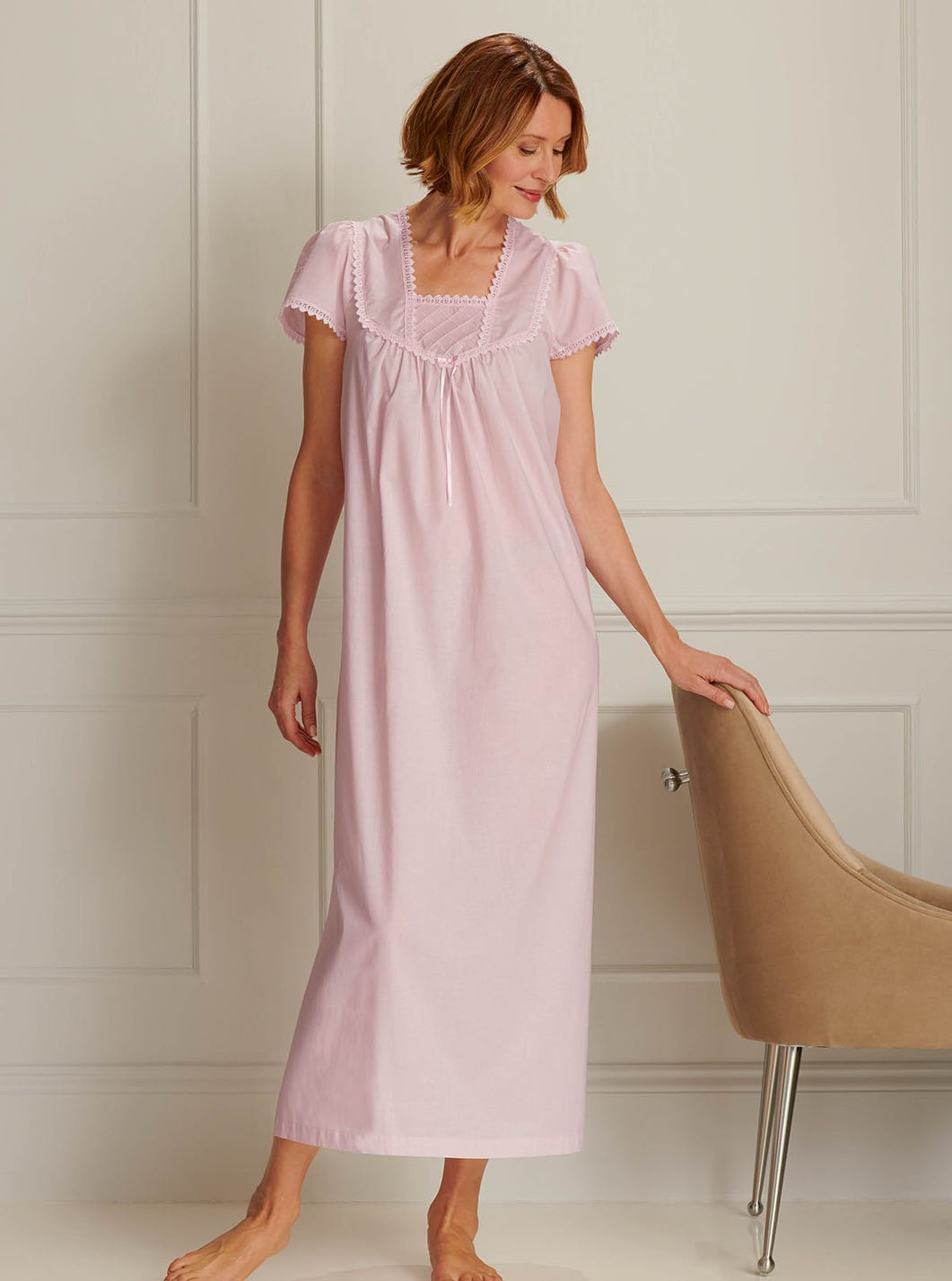 Luxurious Woven Cotton Nightdress