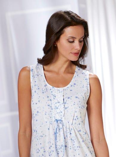 0820 - Konfetti - Nachtkleid aus weichem Baumwolljersey
