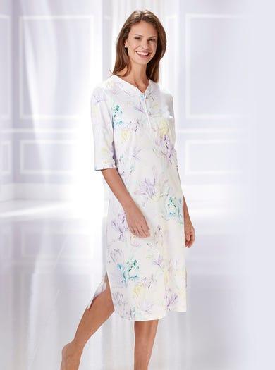 0856 - Lichtblauw Pastel - Eigentijds katoenen nachthemd