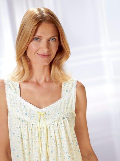 0860 - Alpenrose - Nachtkleid aus feinem Baumwolljersey