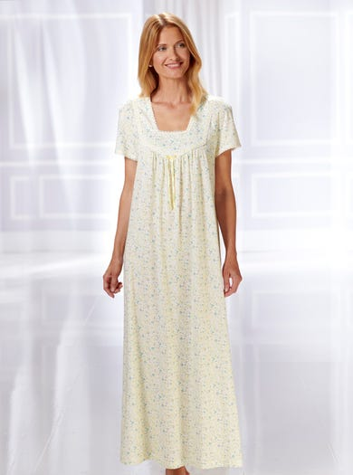 0866 - Alpine Rose - Soft Cotton Jersey Nightie