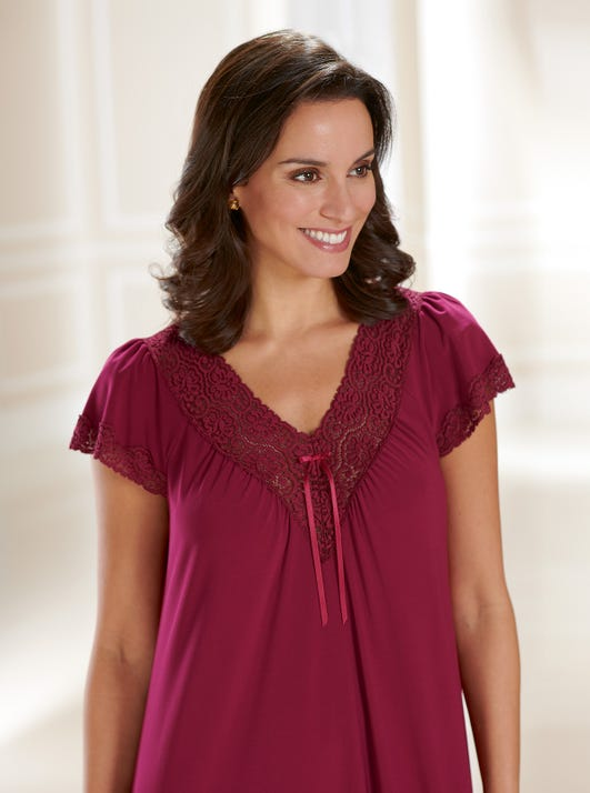 Soft Lace-trimmed Nightie