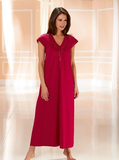 0942 - Ruby - Pretty Sleeve Nightdress
