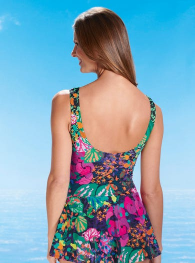 1874 - Lily Pad - Luxurious Swim Dress