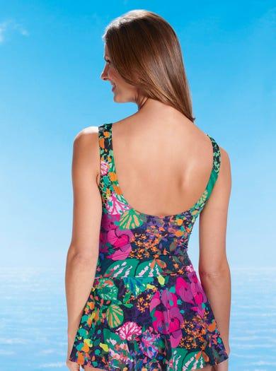 1874 - Lily Pad - Luxurious Swim Dress