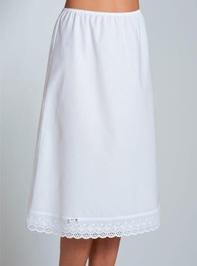 1921 - Blanc - Jupon en toile de coton mélangé