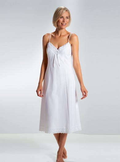 1926 - White - Luxury Cotton-Rich Full Slip by David Nieper