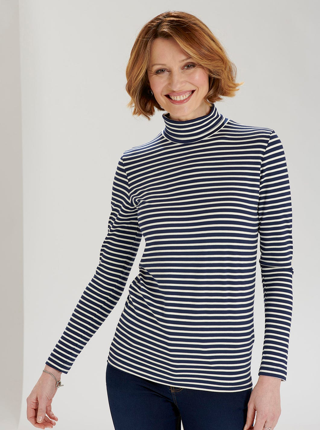 Striped Roll-neck Top