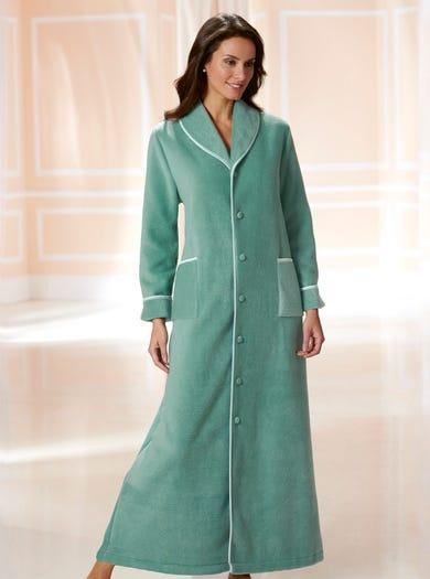 3178 - Sage Green - Smart Cosy Fleece Gown