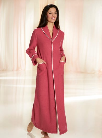 Ladies Dressing Gowns Luxury Fleece Full Length Fleece And