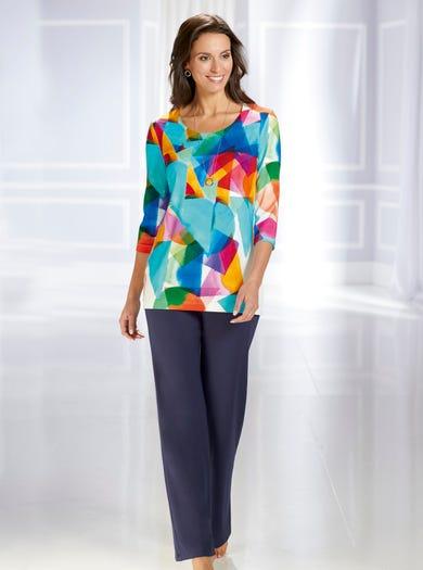 3190 - Geometrisch - Vrolijk gekleurde tuniek