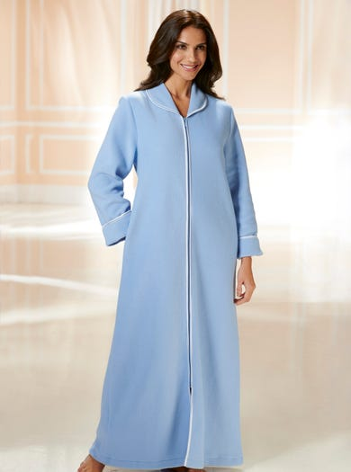 3311 - Hyacinth - Easy-on Warm Fleece Gown