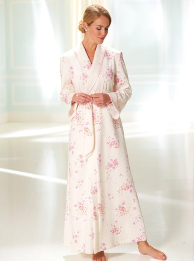 3412 - Pink Fleur - Fine Quilted Wrap