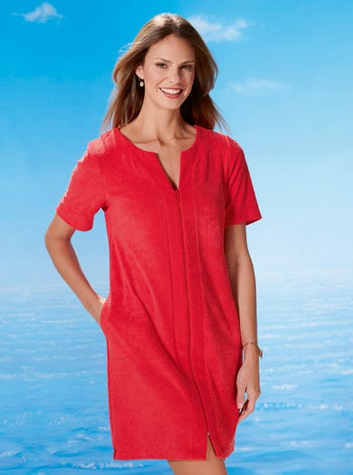 3621 - Watermelon - Soft Towelling Cover-Up
