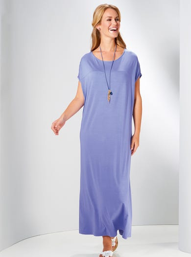 3653 - Periwinkle - Supersoft Leisure Time Dress