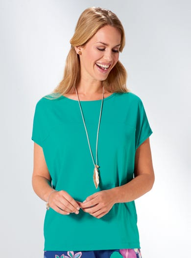 3656 - Emerald - Supersoft Relaxed Tee