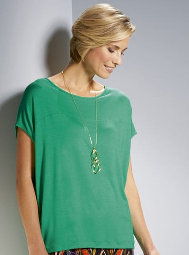 3816 - Green - Supersoft Relaxed Jersey Tee