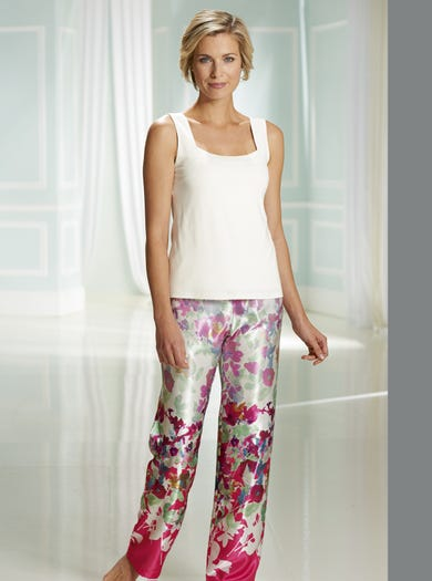 Finest Pearl Satin Pyjama Trousers