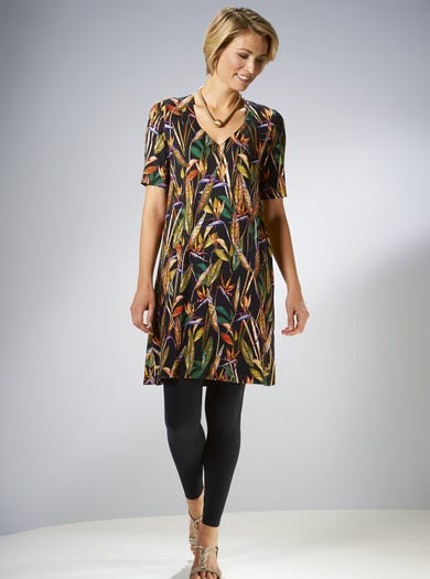 3862 - Bird Of Paradise - Easy Stretch Jersey Dress