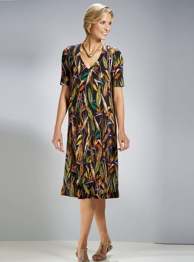 3863 - Bird Of Paradise - Easy Stretch Jersey Dress