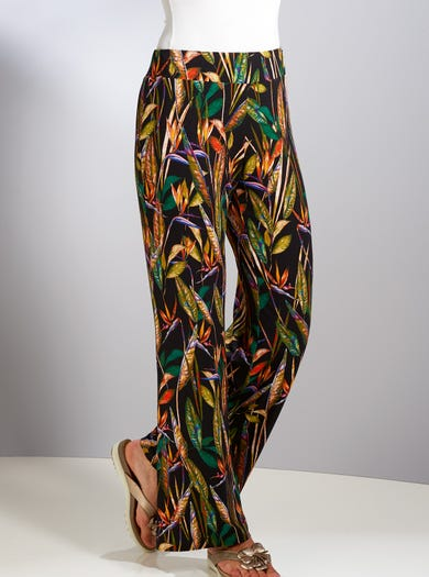 Soft Stretch Palazzo Trousers